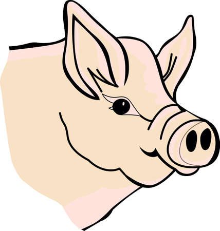 We have found the perfect piggy for your farm creations!  Bring this piggy into your screen printing or ink creations!