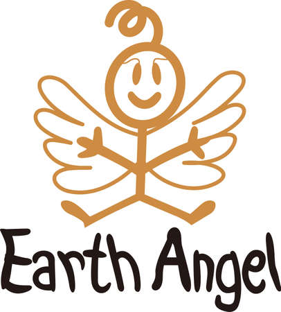 nurseries: Heaven has sent a special angel!  This super cute stick figure angel is the perfect decoration for nurseries and baby gear.  Use with your vinyl software to quickly create SVG files!