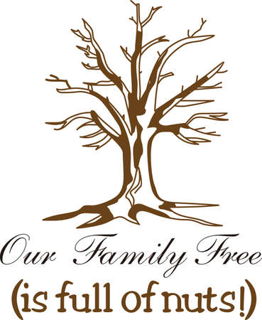 Every family is unique and special.  Our lovely tree allows you to create something very special for your family - what about shirts for the family reunion! Vettoriali