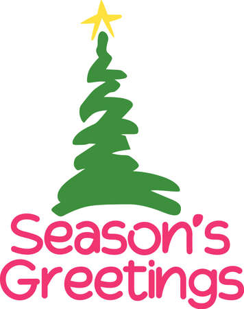 flair: A simple squiggle of a tree makes your holiday dcor just delightful.  Decorate holiday napkins with festive flair!