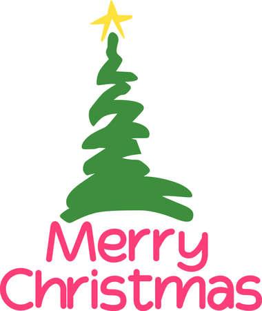木のシンプルな波線になりますあなたの休日の装飾だけで楽しい。 お祝い風にアレンジした休日ナプキンを飾る!  イラスト・ベクター素材
