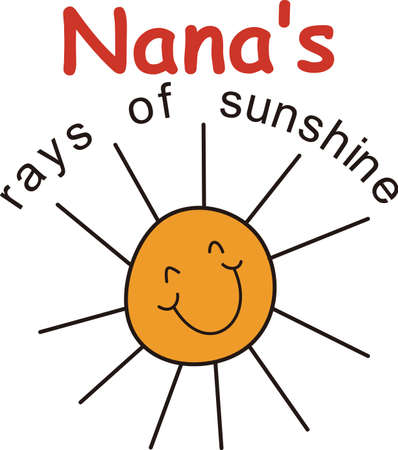 sol: Nanas are so very special!  Create something special for your Nana with this sweet graphic.  Love it on shirts combined with our stick people designs!