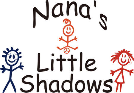 grannie: Nanas are so very special!  Create something special for your Nana with this sweet graphic.  Love it on shirts combined with our stick people designs!