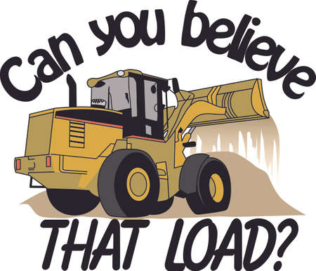 Does your little tyke dream of driving a excavator around If they didnt before, they will now!   A great design on t-shirts, sweatshirts and more. Ilustrace