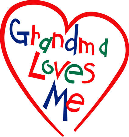 Grandmas love is such a special thing.  Why not put this love on display on a super cute toddler tee! Ilustrace