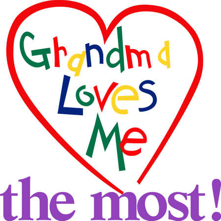 why not: Grandmas love is such a special thing.  Why not put this love on display on a super cute toddler tee! Illustration