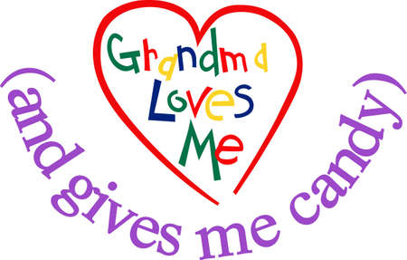 grannie: Grandmas love is such a special thing.  Why not put this love on display on a super cute toddler tee! Illustration
