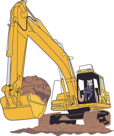 mover: Little boys -and big boys - love big construction vehicles!  Great for a construction workers logo or jacket or a decoration on apparel for the little guys.