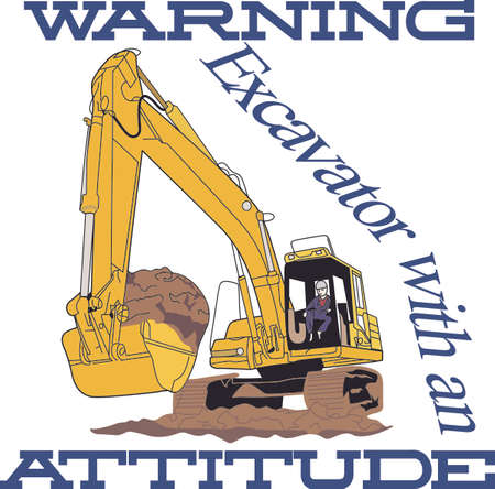 earth mover: Little boys -and big boys - love big construction vehicles!  Great for a construction workers logo or jacket or a decoration on apparel for the little guys.
