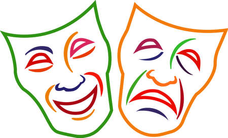 comedy: Add these Comedy Tragedy Masks to your projects and design some dramatic gifts theater lovers will fall for!