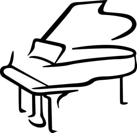 Rock aan de wilde kant! Stitch dit koele piano ontwerp op overhemden, zakken, en meer voor uw rocksterren.