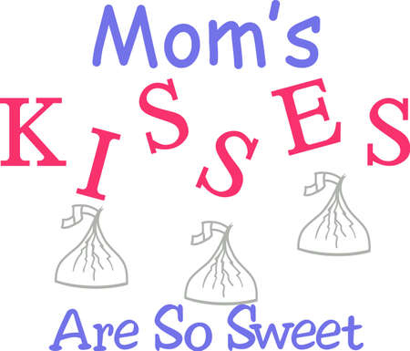 Not just your average kiss - its a chocolate kiss!  A yummy way to add some good taste to a variety of projects. 向量圖像