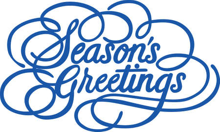Seasons Greetings just cannot be expressed more beautifully.  This lovely calligraphy is just perfect for print art or vinyl cuts for special holiday greetings.