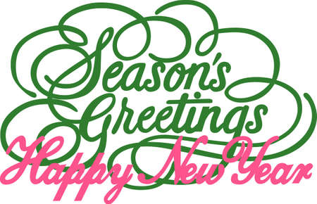 scrollwork: Seasons Greetings just cannot be expressed more beautifully.  This lovely calligraphy is just perfect for print art or vinyl cuts for special holiday greetings.