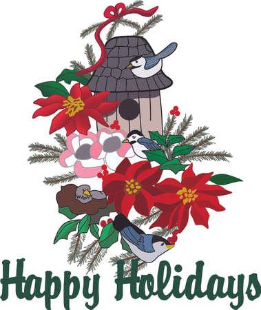 このデザインであなたの休日のプロジェクトのホールとクリスマスのごちそうであなたの家の残りの部分をデッキします。 写真素材 - 51226257