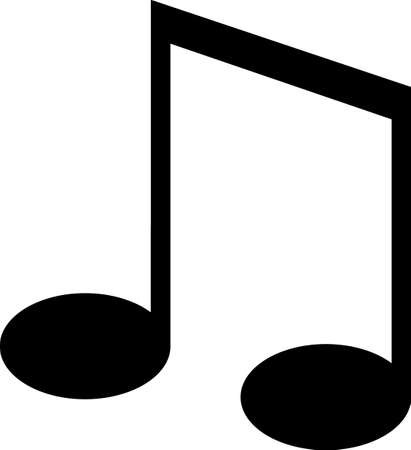 Listen to foot tapping music.  This pitch perfect music note design will be great on projects for your music lover! Banco de Imagens - 51226311