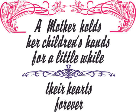 treasured: Show a treasured woman just how special she is with this design on your Mothers Day projects! Illustration
