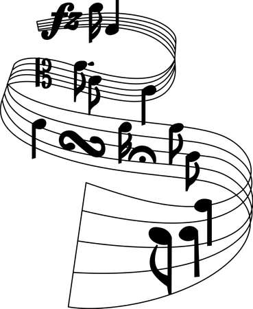 eighth: Listen to foot tapping music.  This pitch perfect music note design will be great on projects for your music lover! Illustration