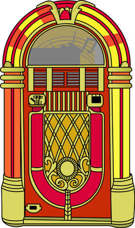 music machine: Slip some coins in the jukebox, pick your favorite tunes, and dance the night away.  A great vibrant design on gifts for friends or family who are hopelessly retro!