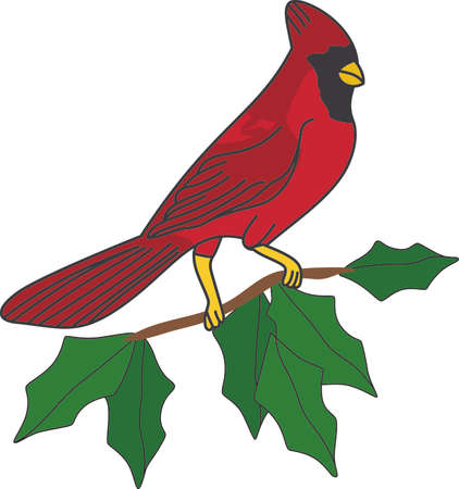 No matter where you live, you'll want to bring these bright red cardinals home to roost for the holidays. Add a touch of color with this design on your holiday projects!