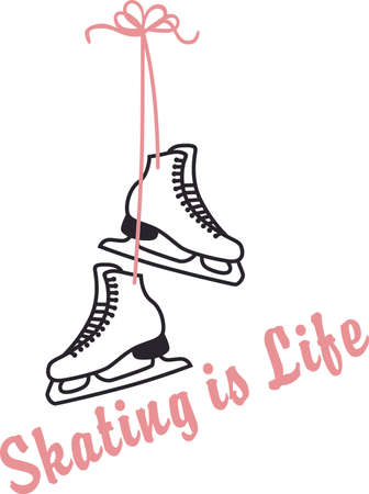 sharpen: Sharpen your blades, secure your laces, and hang on tight for the glide of your life! a perfect design on t-shirts, sweatshirts and more for your sports fans! Illustration