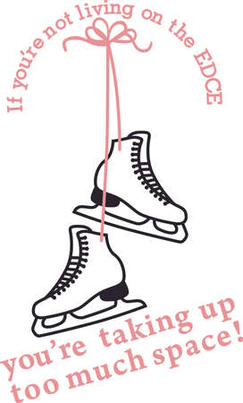 glide: Sharpen your blades, secure your laces, and hang on tight for the glide of your life! a perfect design on t-shirts, sweatshirts and more for your sports fans! Illustration