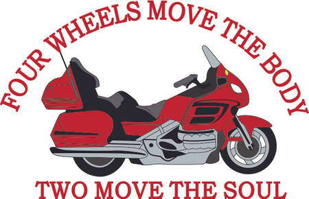 motorized: Be the envy of your friends on this mean machine!  A great design with favorite a pair of jeans, backpack, bag, jacket and more for your wind hogs!