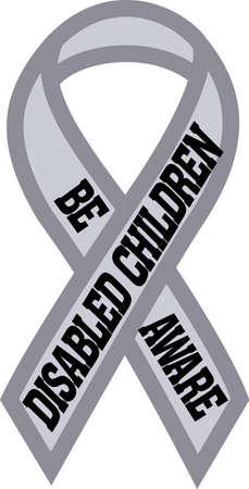 niños discapacitados: difundir el conocimiento de la lucha para recaudar fondos para los niños con discapacidad durante todo el año con este diseño en las camisas, camisetas, bolsos y más! Vectores