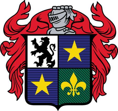 ライオン、星と剣の紋章紋章は、シャツなどの強力な飾りを作ります。 あなたの休日のプロジェクトに創造的な取得!