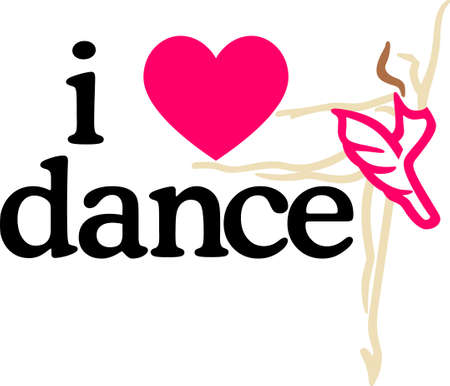 girl in love: Awaken the dancer within.  This design is great to make unique gifts for loved ones!  Will look perfect on t-shirts, sweatshirts, totes and more!