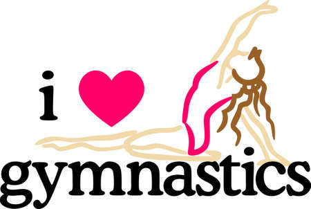 Looking for the perfect Birthday or Christmas gift Embroider this design on clothes, towels, pillows, gym bags, quilts, tshirts, jackets or wall hangings for your gymnast!