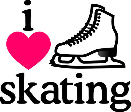 lace up: Grab your friends or family and lace up your skates! Take a spin on the ice with this design on clothes, towels, pillows, bags, t-shirts and jackets for your skater!