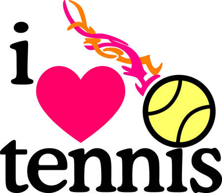 Looking for the perfect Birthday or Christmas gift Embroider this design on clothes, towels, pillows, gym bags, quilts, t-shirts, jackets or wall hangings for your tennis pro!