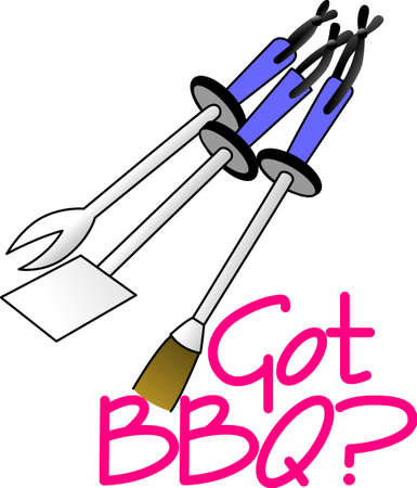 bar b que: Its all about eating!  Get this grilling inspired design on towels, aprons, and shirts for the perfect gift.