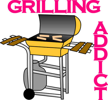 que: Its all about eating!  Get this grilling inspired design on towels, aprons, and shirts for the perfect gift.