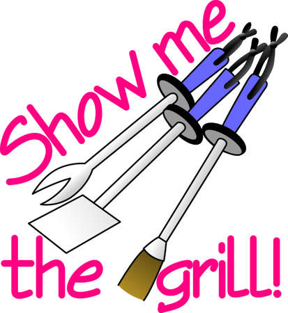 Its all about eating!  Get this grilling inspired design on towels, aprons, and shirts for the perfect gift.