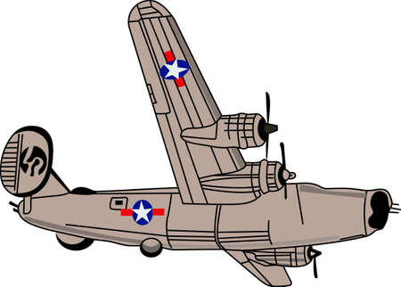 liberator: The classic heavy bomber will satisfy vehicle-lovers of any age!  A great design for T-shirts and sweatshirts.