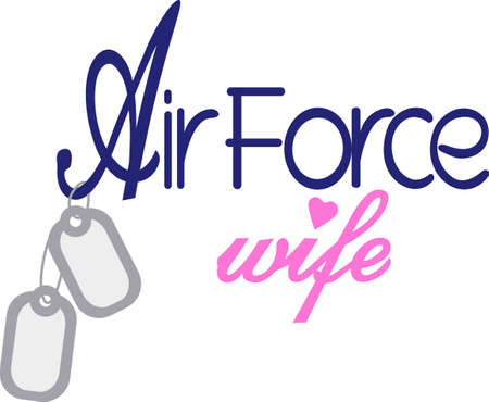 Being an Air force wife is a privilege and an honor! Show your pride in your husbands service with this design on t-shirts, sweatshirts and more.