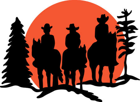 Ride into the sunset, look back with no remorse.  A great design with the best of the west for to indulge on projects for the inner cowboy in you.