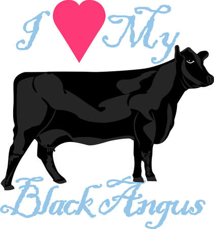 black angus cattle: A farm is just not complete without cows!  Create something super special for any cattle rancher!