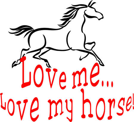 filly: Horse people have a special love for their equine friends.  Great design for print or barn wear creations!