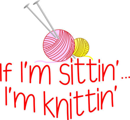 embellished: Create a perfect yarn box embellished with this fun design.  Great design for the knitters apparel too!