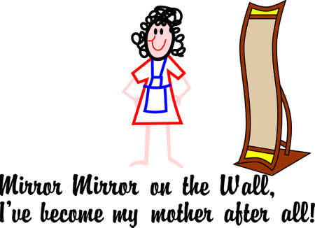 Heres a reflection all moms can relate to!  Fun print art or for home dcor creations.