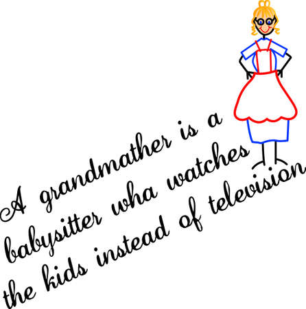 one of a kind: Grandma is the best babysitter ever!  Thank her in a special way with a one of a kind gift decorated with this fun graphic!