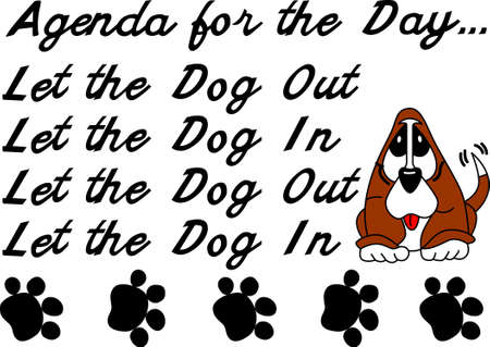 Pet lovers spend their days catering to the needs of the dog.   This design is great on a dog lovers shirt! Ilustração