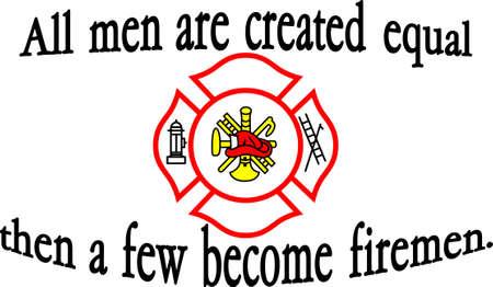sirvientes: Los bomberos son algunos de los servidores p�blicos m�s desinteresados ??que se puedan encontrar. Vectores