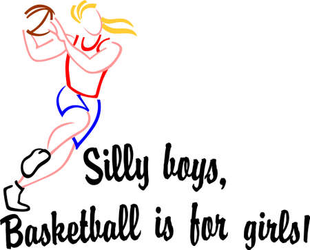 women sport: Basketball is like war in that offensive weapons are developed first. Illustration