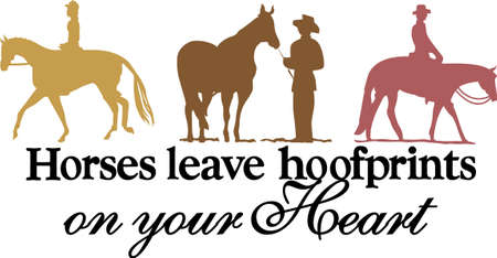 Cowboys and horses create a lovely silhouette.  This design is lovely tee shirt art.