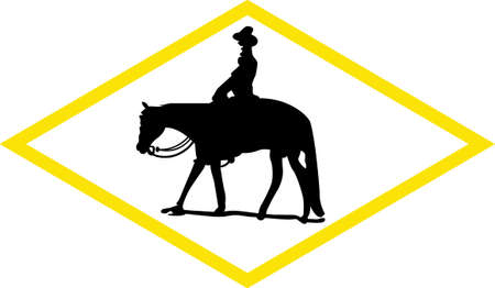 appaloosa: A cowboy and horse create such a pretty silhouette in a geometric box.  This design is lovely for tee shirt art or print creations.