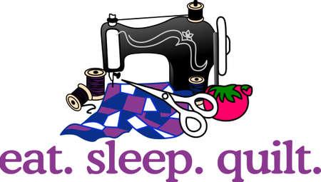 Een quilt is een schat die zijn eigenaar overal volgt.